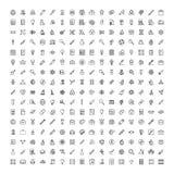Sistema plano del icono Imagen de archivo libre de regalías