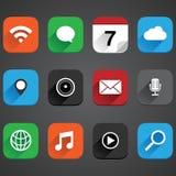 Sistema plano del icono del App Fotografía de archivo libre de regalías