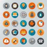 Sistema plano del icono del diseño Imagenes de archivo