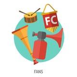 Sistema plano del icono del fútbol Imagen de archivo