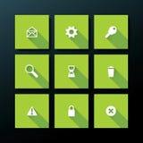 Sistema plano del icono del web del vector