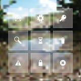 Sistema plano del icono del web del vector Imagen de archivo