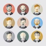 Sistema plano moderno del icono de los hombres del diseño libre illustration