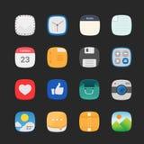Sistema plano redondo general del icono Imagen de archivo