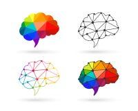 Sistema poligonal del cerebro stock de ilustración