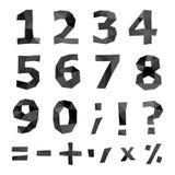 Sistema poligonal del número Imagenes de archivo