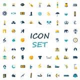 Sistema popular de iconos planos libre illustration