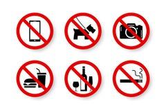Sistema prohibido de aislado prohibido, no permitido, ningunas muestras imagen de archivo