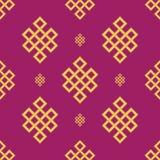 Sistema propicio sin fin del nudo Ornamento de China, símbolo, icono de Tíbet, eterno, del budismo y de la espiritualidad, símbol stock de ilustración