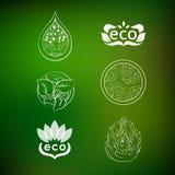 Sistema protección de la naturaleza de los logotipos Fotografía de archivo