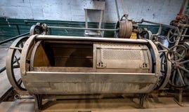 Sistema que se lava del lavadero viejo en una prisión Imagen de archivo libre de regalías