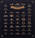 Sistema real de lujo del logotipo Cresta, emblema, monograma heráldico El vintage prospera elementos