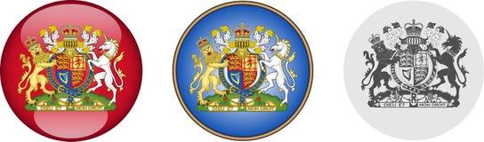 Sistema real del escudo de armas Imagen de archivo