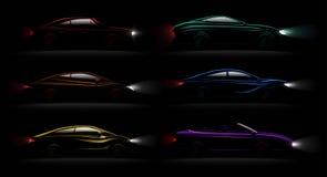 Sistema realista aligerado de la oscuridad de los coches libre illustration