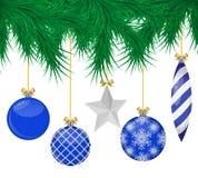Sistema realista de las bolas de la Navidad foto de archivo libre de regalías