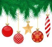 Sistema realista de las bolas de la Navidad imagen de archivo