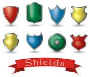 Sistema realista del escudo Imagenes de archivo