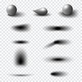 Sistema realista transparente del efecto de sombra Bandera del Web Foto de archivo