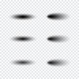 Sistema realista transparente del efecto de sombra Bandera del Web Imágenes de archivo libres de regalías