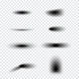 Sistema realista transparente del efecto de sombra Bandera del Web Fotos de archivo