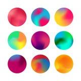 Sistema redondo de la pendiente Botón olográfico redondeado de la esfera de la pendiente libre illustration