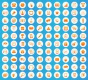 Sistema redondo de los iconos de la oficina Fotos de archivo libres de regalías