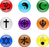 Sistema religioso del icono Imagen de archivo libre de regalías
