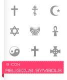 Sistema religioso del icono de los símbolos del vector Imagen de archivo libre de regalías
