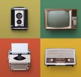 Sistema retro de la electrónica Foto de archivo libre de regalías