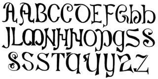 Sistema retro del alfabeto ilustración del vector