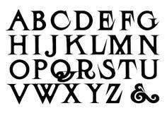Sistema retro del alfabeto libre illustration