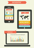Sistema retro del infographics Foto de archivo
