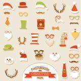 Sistema retro del partido de la Navidad Imágenes de archivo libres de regalías