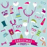 Sistema retro del partido de la Navidad libre illustration