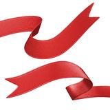 sistema rojo de la etiqueta de la cinta 3d, elemento del diseño Foto de archivo libre de regalías