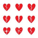 Sistema rojo del corazón ilustración del vector