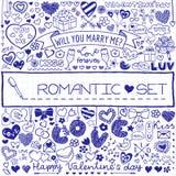 Sistema romántico de garabatos libre illustration