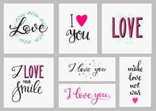 Sistema romántico de las letras de la inspiración del amor Fotografía de archivo