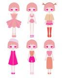 Sistema rosado del equipo de la muchacha Foto de archivo