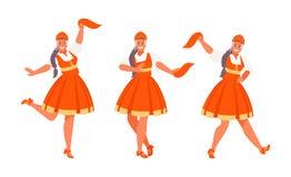 Sistema ruso del vector de la danza libre illustration