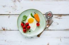 Sistema sabroso del desayuno Fotografía de archivo libre de regalías