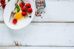 Sistema sabroso del desayuno Foto de archivo libre de regalías