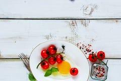 Sistema sabroso del desayuno Fotos de archivo