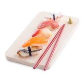 Sistema sabroso japonés del sushi Foto de archivo libre de regalías
