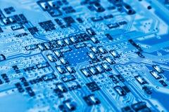 Sistema, scheda madre, computer e fondo di elettronica Immagine Stock