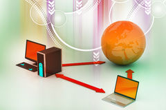 Sistema sem fio dos trabalhos em rede Imagem de Stock