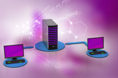 Sistema senza fili della rete Fotografia Stock