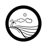 Sistema simple del icono del paisaje Foto de archivo