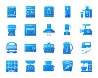 Sistema simple del vector de los iconos de la pendiente del dispositivo de cocina ilustración del vector