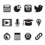 Sistema social del negro Foto de archivo libre de regalías